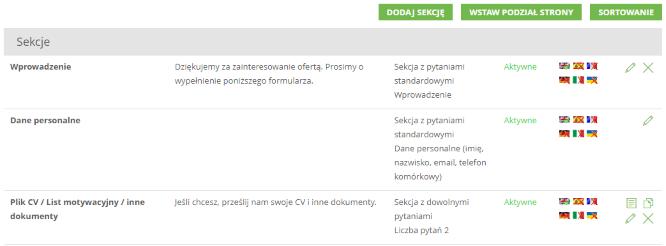 Aplikowanie bez CV - formularz