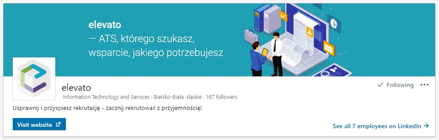 Profil firmy na LinkedIn